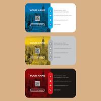 Collection de cartes de visite colorées