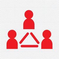 personnes icône illustration vectorielle vecteur