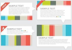 Pack d'éléments vectoriels abstraits colorés vecteur