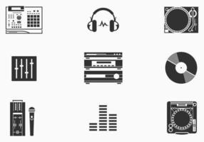Ensemble d'icônes vectorielles DJ vecteur