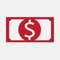 icône d'argent Illustration vectorielle vecteur
