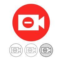 icône de caméra vidéo vecteur