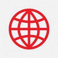 Globe terrestre icône illustration vectorielle