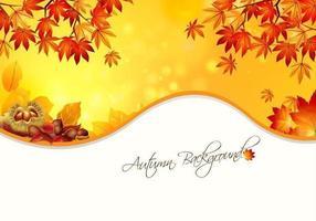 Vecteur de fond chaud d'automne