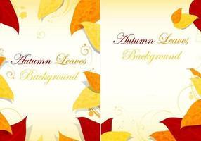 Pack de vecteur de fond des feuilles d'automne
