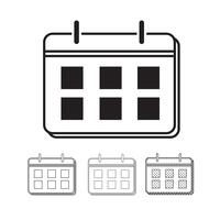 Icône de calendrier vectoriel Illustration design
