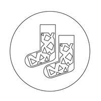 Icône de la chaussette vecteur
