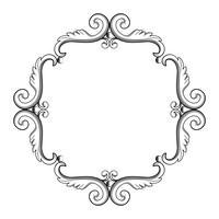Cadre vintage ornemental. Illustration vectorielle en couleurs noir et blanc