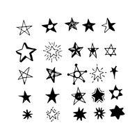 Doodle Star dessiné à la main vecteur