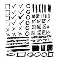 Ligne de croquis pour le doodle dessinés à la main vecteur