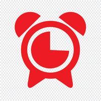 réveil icône illustration vectorielle