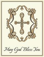 Croix chrétienne décorative vecteur