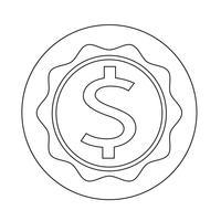 Icône de signe dollar