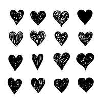 main dessiner icône du cœur vecteur