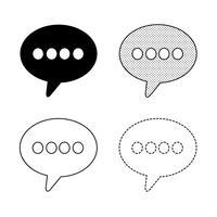 Vecteur d'icône bulles