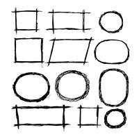 Ligne de croquis doodle dessinés à la main vecteur