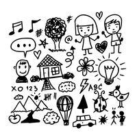 Icône de doodle dessiner main enfants vecteur