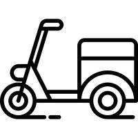 Vecteur d'icône de livraison cyclomoteur