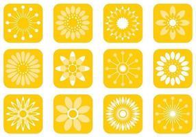 Pack de vecteur de fleurs abstraites ensoleillés