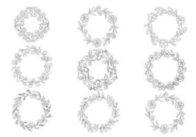 Ensemble vectoriel à la main à la main dessiné
