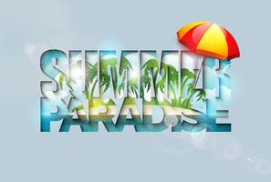Typographie de vacances d'été