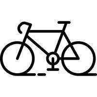 Vecteur d'icône de vélo