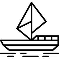 Vecteur d'icône de yacht