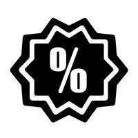 Vecteur d'icône discount