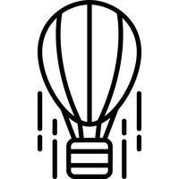 Aérostat icône vecteur
