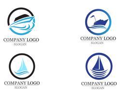 Bateau de croisière océan bateau silhouette linéaire simple