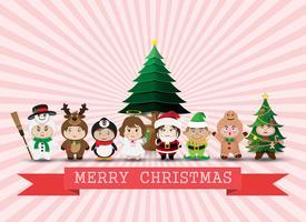 Noël mignons enfants