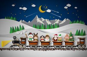 Noël mignons enfants vecteur