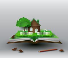 la maison sur le livre.