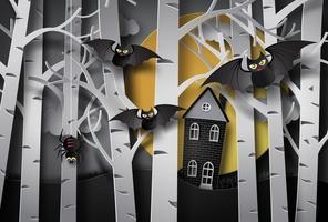 carte de voeux halloween vecteur