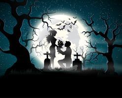 Amoureux des âmes au clair de lune. vecteur