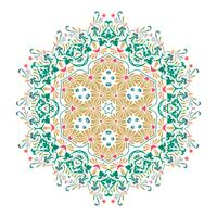 Conception d'illustration vectorielle floral Mandala vecteur