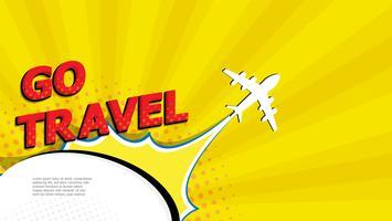 aller voyager pop art, bande dessinée