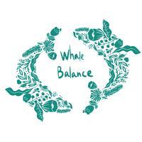 illustration vectorielle de vaquita marina baleine bleue