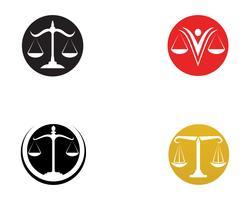 Logo de l'avocat de la justice et application de modèle d'icônes de modèle vecteur