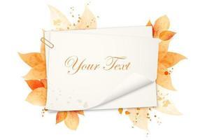 Pack de vecteur fond aquarelle automne