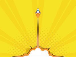 lancement de fusée concept de démarrage vecteur