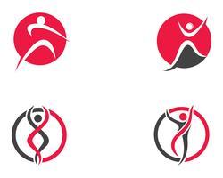 Icônes de modèle de logo et de personnes de santé