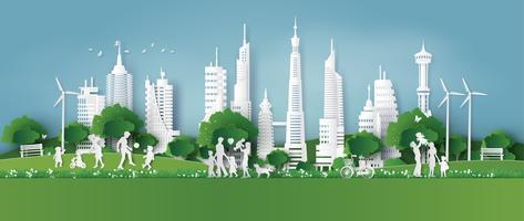 eco friendly, sauver la terre et la journée mondiale de l'environnement vecteur