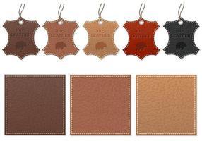 Pack de vecteur d'étiquette en cuir