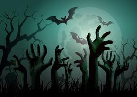 Illustration de la fête d'Halloween Zombie. vecteur