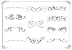 Pack de vecteur d'ornement calligraphique