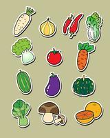 Dessin à main levée de légumes. vecteur