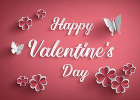 Concept de joyeuse Saint Valentin vecteur
