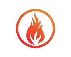 Conception illustration vectorielle feu flamme vecteur
