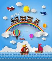 Illustration vectorielle de transport de voyage